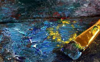 Фото бесплатно краски, масленые, кисть, рисование, картина, разное