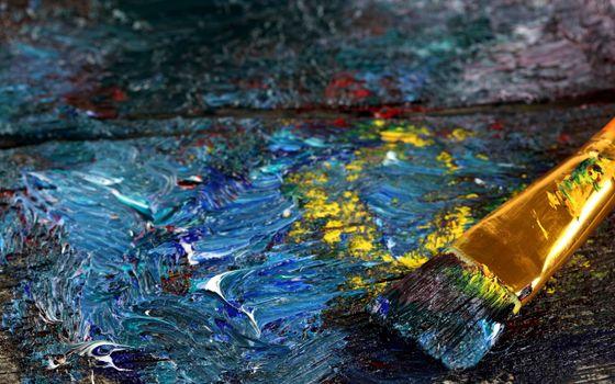 Фото бесплатно краски, масленые, кисть