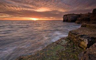 Бесплатные фото небо,облака,море,океан,вода,волны,камни