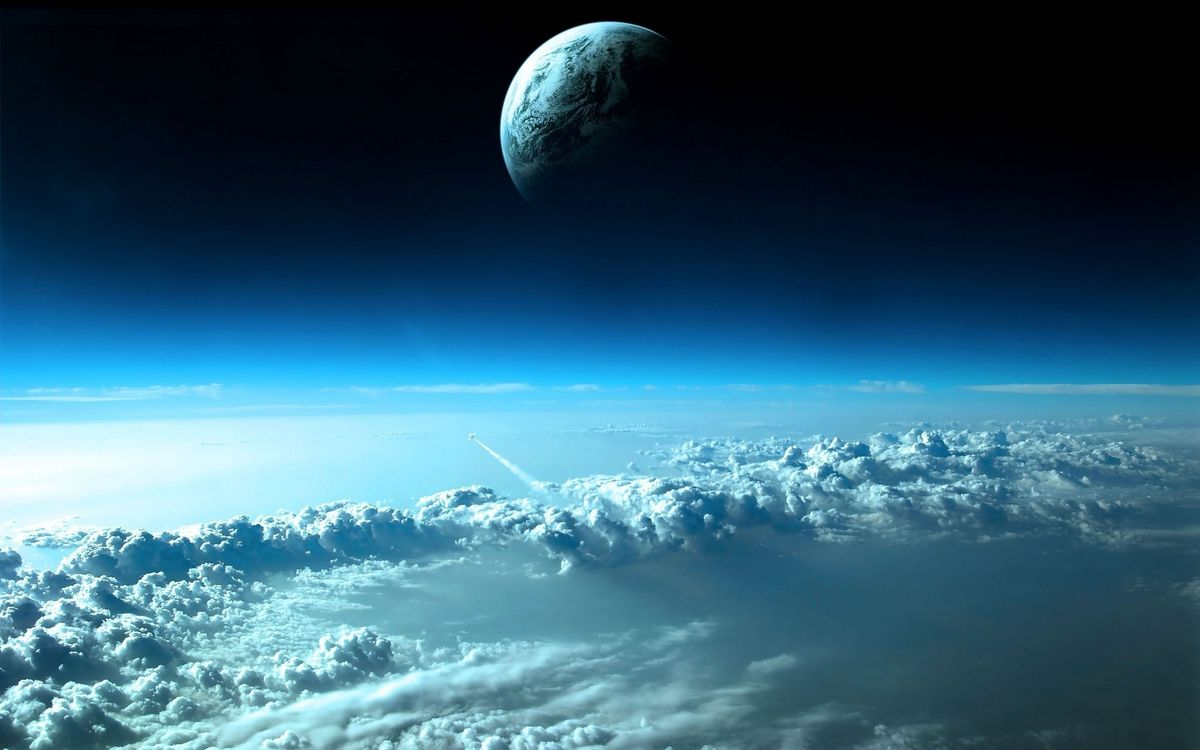 Фото бесплатно облака, орбита, шатл - на рабочий стол
