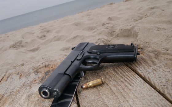 Фото бесплатно пистолет, черный, патрон