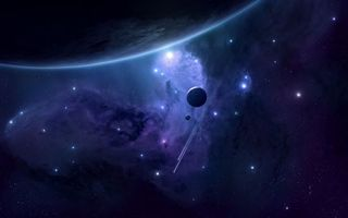 Заставки планеты,звезды,свечение,метеориты,вакуум,невесомость