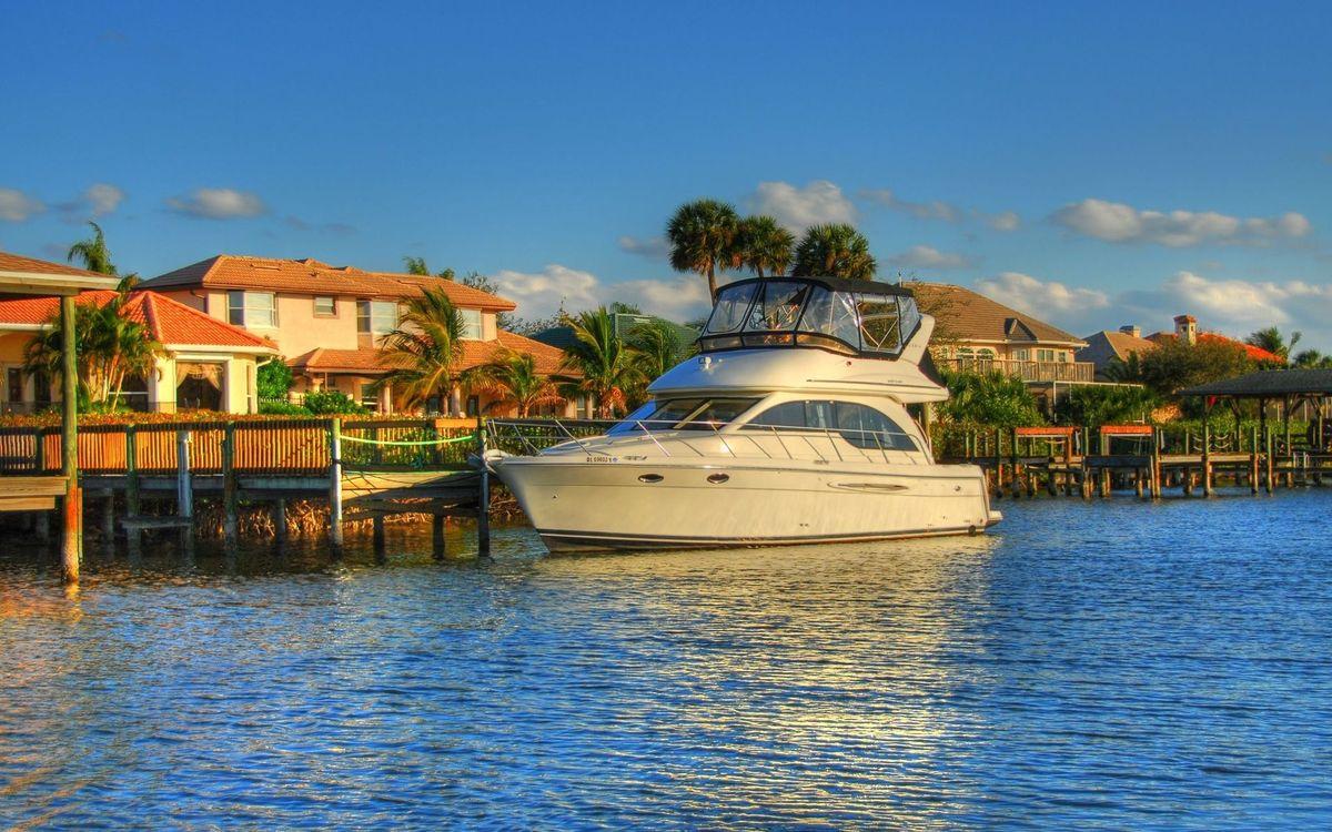 Free photo beach, dock, yacht - to desktop