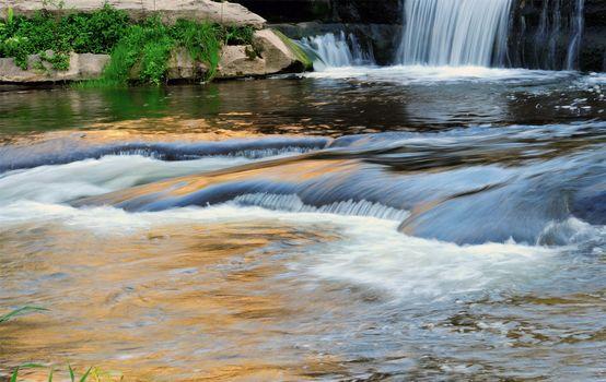 Заставки природа, водопад, камни
