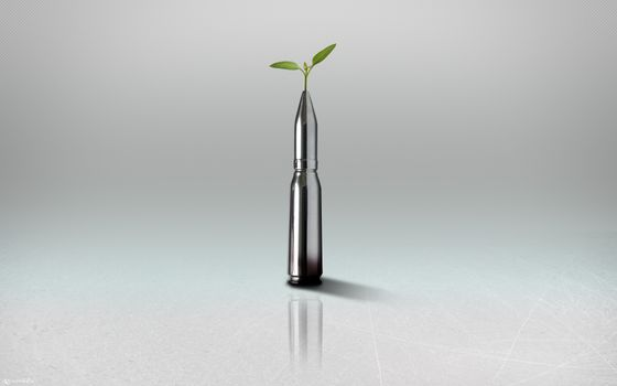Photo free bullet, chrome, leaves
