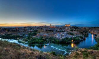 Бесплатные фото Толедо,Испания,закат,пейзаж