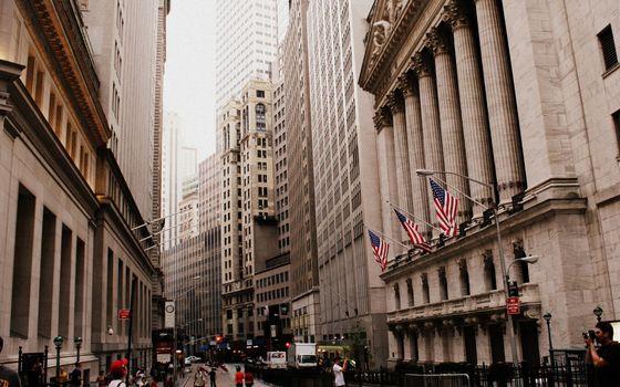 Бесплатные фото улица,здания,сша,флаг,люди,дорога,машины,город
