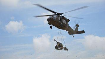Фото бесплатно вертолет, лопасти, зеленый