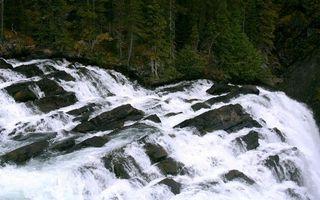 Фото бесплатно водопад, вода, брызги