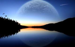 Бесплатные фото закат, горизонт, небо, голубое, горы, море, океан