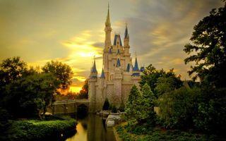 Фото бесплатно замок, купола, синие