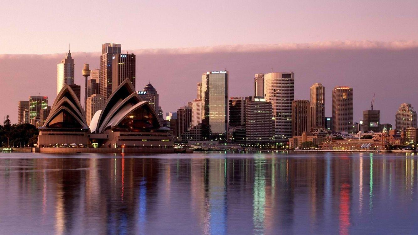 Фото бесплатно сидней, вода, город, небо, австралия, разное