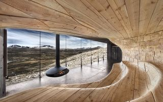 Обои норвегия, пейзаж, камин, окно