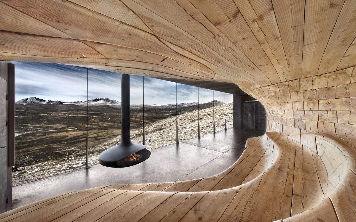 Фото бесплатно норвегия, пейзаж, камин, окно, разное - скачать на рабочий стол