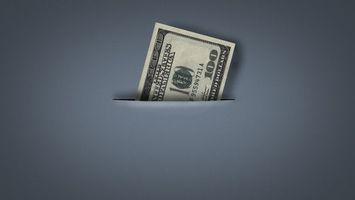 Бесплатные фото 100 долларов,купюра,текстура,разрез,карман,серый фон,разное