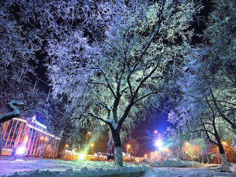 Фото бесплатно Нью-йорк, вечер, освещение