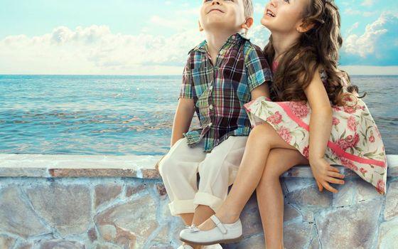 Photo free children, girl, dress