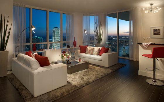 Заставки гостиная, диваны, белые