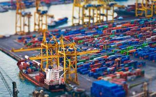 Заставки корабль, груз, контейнеры, краны, паром, фото, эффект, море, океан, отправка, волны, склад
