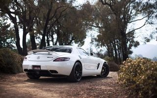 Photo free Mercedes sals amg, white, spoiler