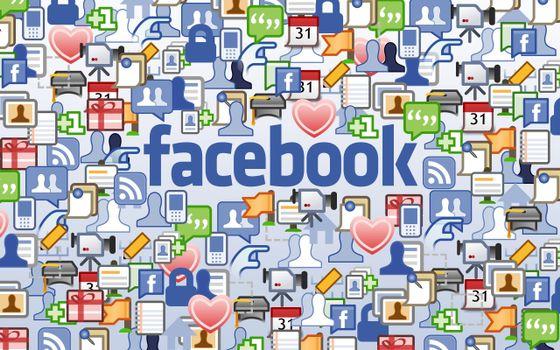Заставки надпись, фейсбук, буквы, значки, социальная, сеть, hi-tech