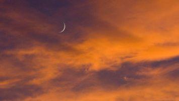 Фото бесплатно природа, закат, месяц