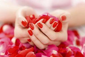 Фото бесплатно ногти, маникюр, красный