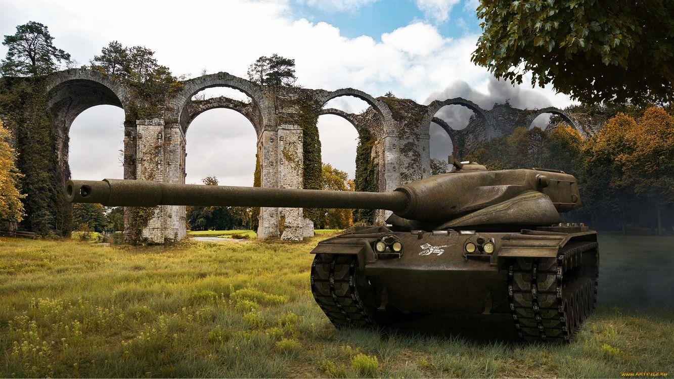 Фото бесплатно world of tanks, танк, средний, t57 heavy, мост, трава, броня, деревья, игры, оружие, оружие