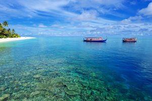 Заставки Мальдивы, лодки, тропики