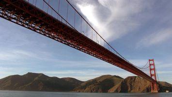 Фото бесплатно вода, мост, горы