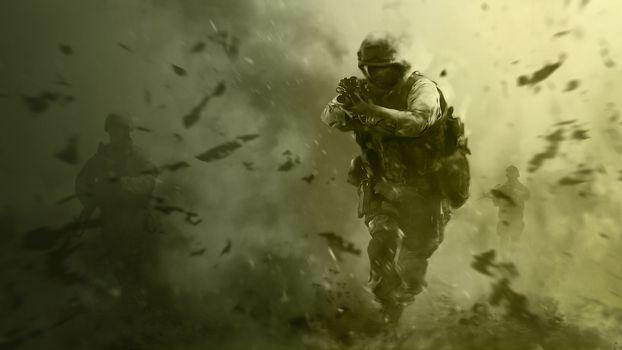 Фото бесплатно call of duty, спецназ, оружие