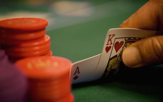 рука, туз, покер, король, фишки