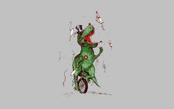 Фото бесплатно дино, динозавр, конфети