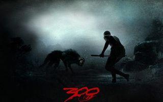 Бесплатные фото 300 спартанцев,человек,копье,волк,ночь,снег,глаза