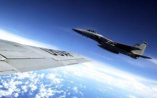 Фото бесплатно истребитель, usaf, воздух