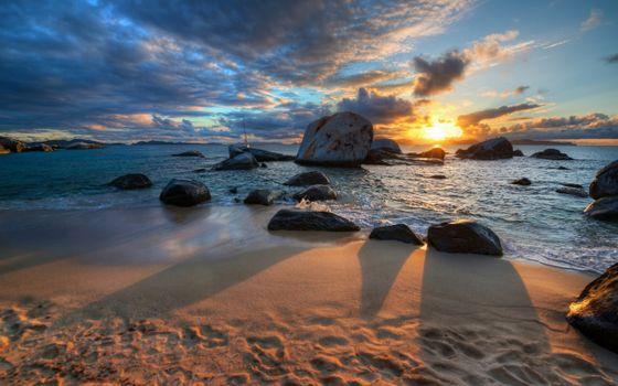 Фото бесплатно закат, пейзажи, природа