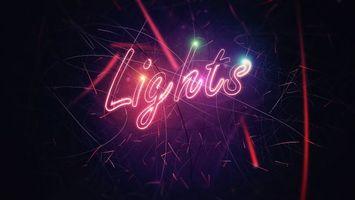 Фото бесплатно буквы, свет, полосы, цвета, огни, яркость, абстракции