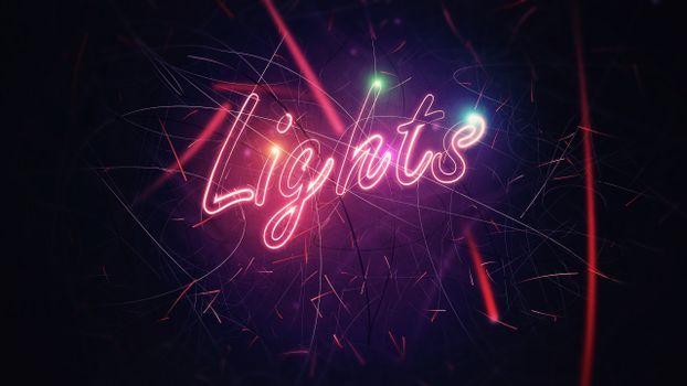 Заставки буквы, свет, полосы