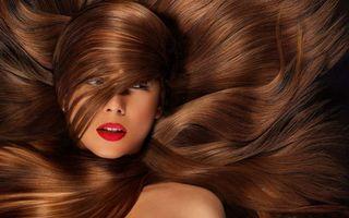 Бесплатные фото девушка,памада,лицо,длинные,волосы,шатенка,девушки