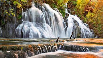 Бесплатные фото водопад, лес, скала, пороги, брызги, природа