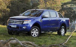 Обои ford, джип, дуги, синий, природа, лес, трава, машины