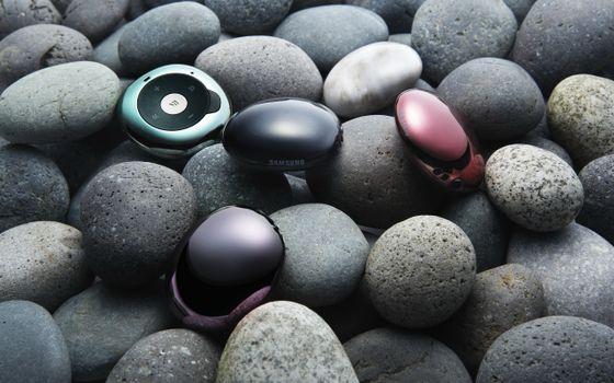 Фото бесплатно камни, плеер, техника