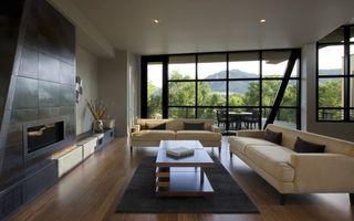 Бесплатные фото комната,диваны,столик,стена,камин,окно,интерьер