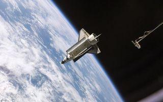 Фото бесплатно космический, шаттл, астранавты