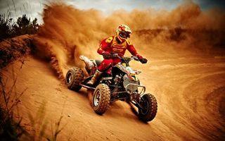 Фото бесплатно квадрацикл, гонщик, человек