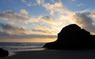 Бесплатные фото море,вода,горы,облака,небо,волны,природа