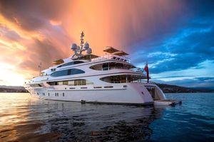 Фото бесплатно море, яхта, вечер