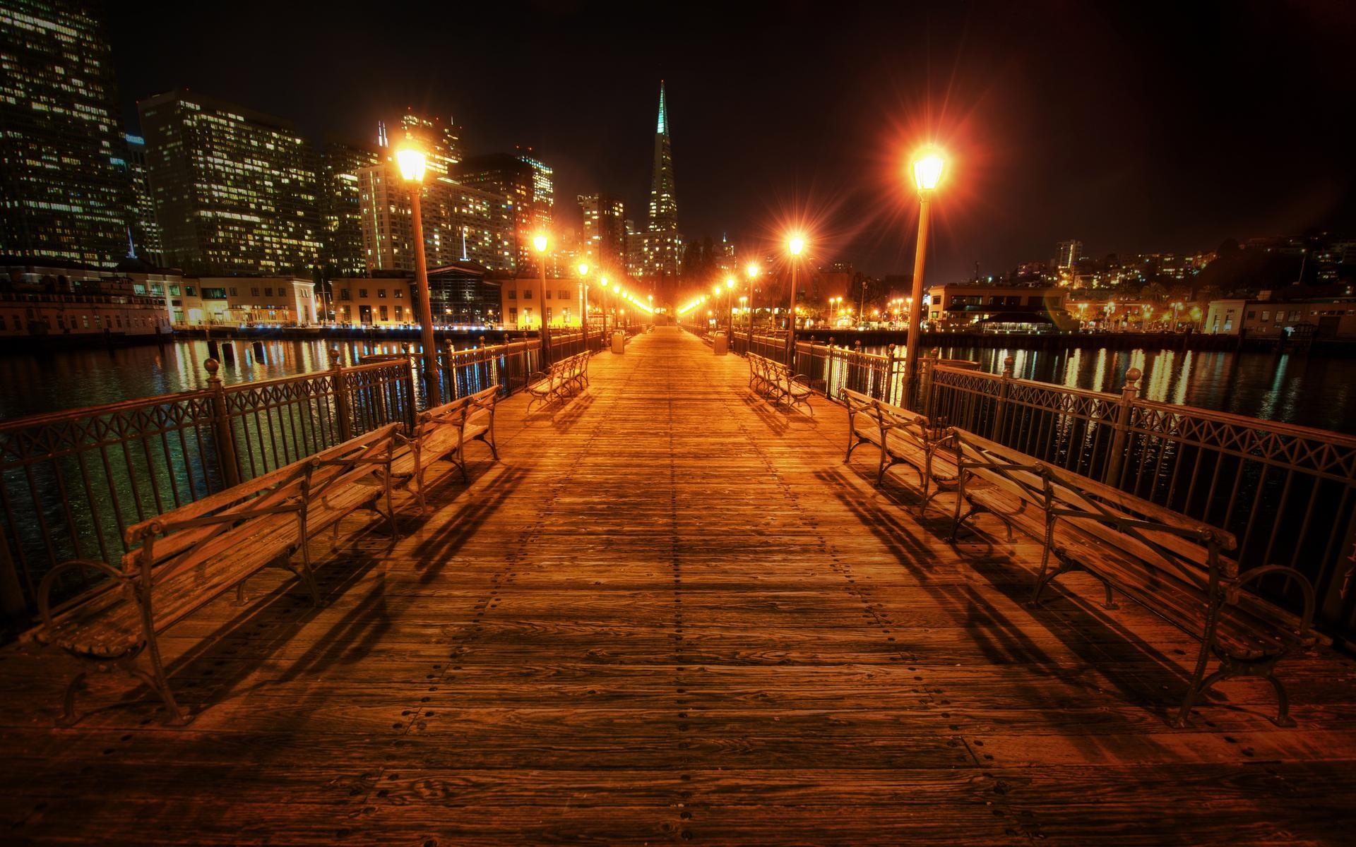 Мост с фонарями без смс