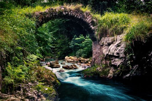 Photo free bridge, stone, arc