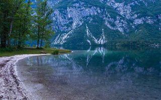Photo free reflection, river, lake
